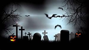 Halloween Graveyard Background After Effects Template ...