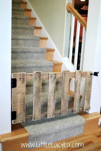 diy pallet stairs gate recyclart