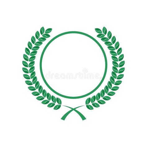 circle logo template rounded leaves and circle logo stock illustration illustration of badge anniversary 79293150