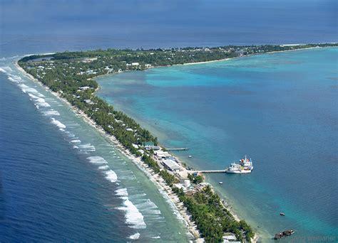 Vaiaku von oben, Funafuti Atoll, Tuvalu, Südsee