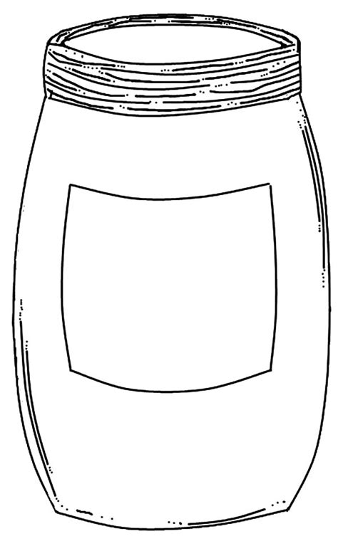 mason jar template printable  sketch coloring page