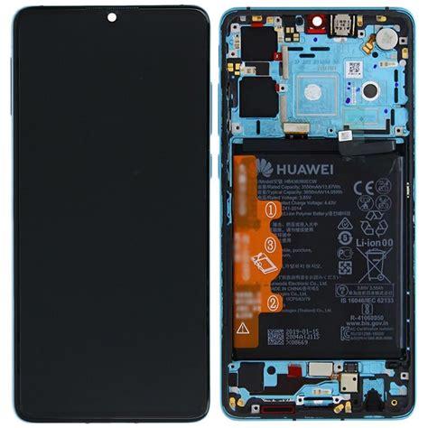 huawei p screen assembly  frame aurora blue