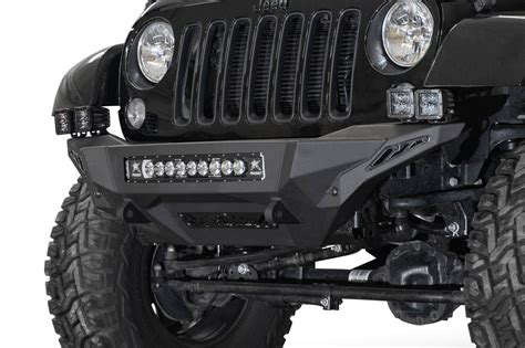 jeep jk stealth fighter front bumper add