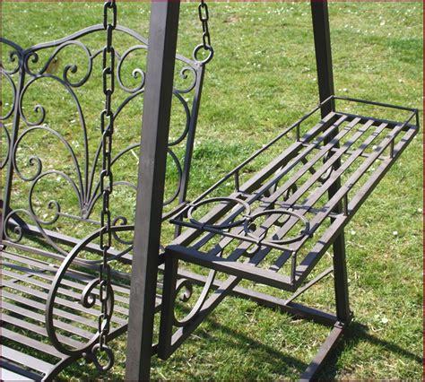 style ancien banc fauteuil balancoire balancelle de jardin en metal fer forge ebay