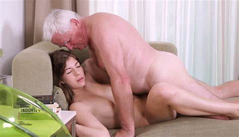 Scared Grandpa And 1 Stunning Babe