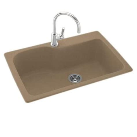 swanstone kitchen sinks cleaning swanstone dual mount composite 33 in 1 single bowl 5958