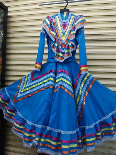 Traje Típico Vestido De Jalisco Adelita Niña 6 8 10