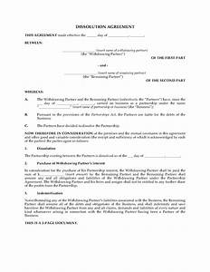 Ontario partnership dissolution agreement legal forms for Partnership agreement template ontario