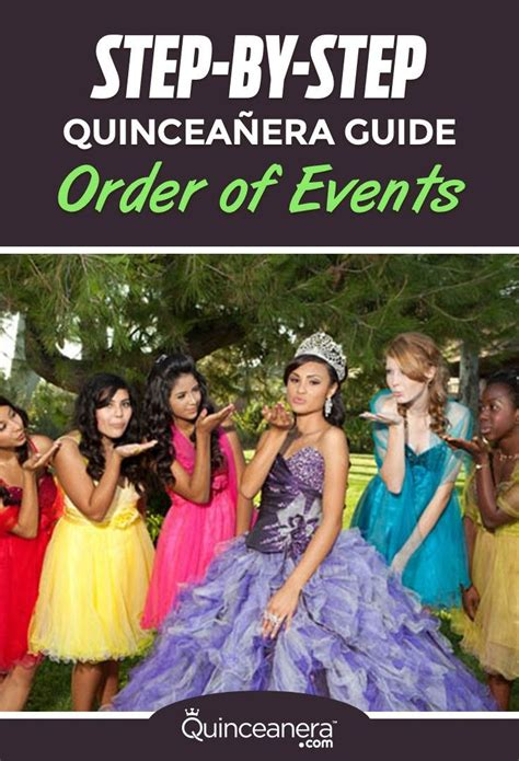 step  step quinceanera guide order