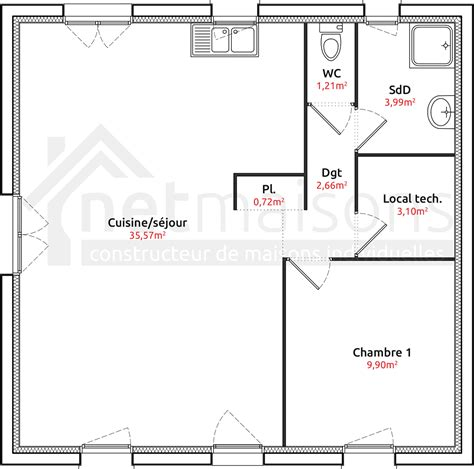 plan maison plain pied 2 chambres garage plan maison plain pied 2 chambres sans garage bricolage