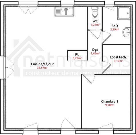 plan maison 1 chambre plain pied bricolage maison