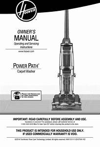Hoover Power Path Carpet Washer Fh50950 Manual