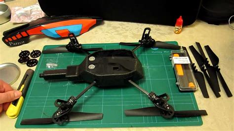 parrot ar drone  repair remove central cross  replace step  step prt  pf