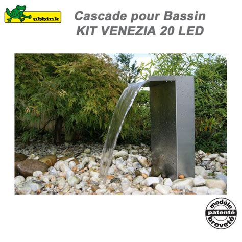 cascade pour bassin ext 233 rieur venezia led compl 233 te ubbink 1312088 u