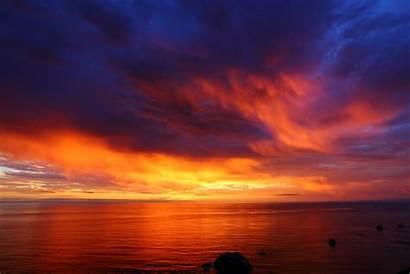 Sunset Ocean Pacific Sky Orange Cloud Sea