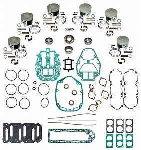 Mercury Outboard Complete Powerhead Rebuild Kit Mercury 2 5l V6 Carbureted Models With Head O