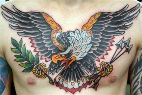 front pieces powerful eagle tattoos tattoodo