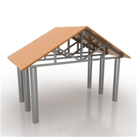 """""""Fence roof""""   Exterior collection 3D Models   Fence roof"""