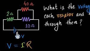 Finding Current In Parallel Resistors
