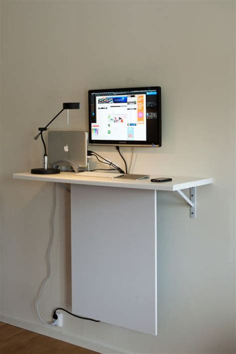 Wall Mounted Computer Desk Ikea by 10 Ikea Standing Desk Hacks With Ergonomic Appeal