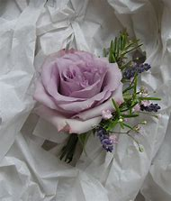 Lavender and White Rose Corsage