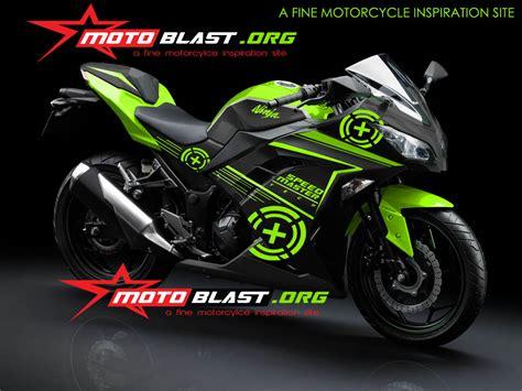 Variasi Motor R by Modif Striping Kawasaki 250r Fi Black Motoblast