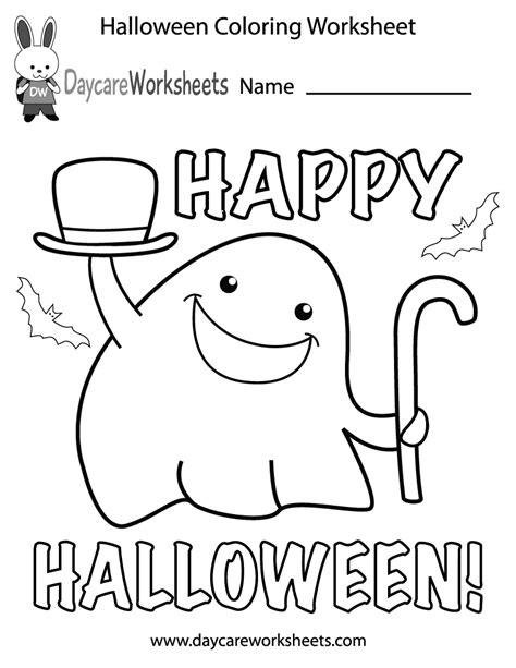 preschool halloween coloring worksheet