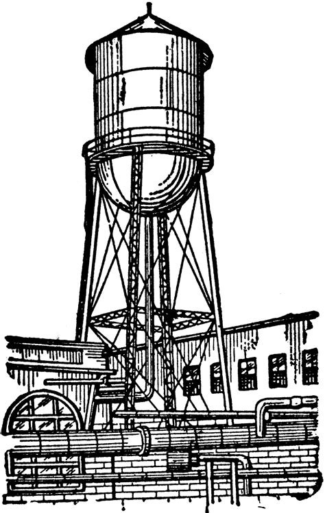water tower clipart