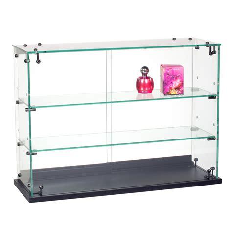 Countertop Showcases - retail counter displays locking glass countertop showcase