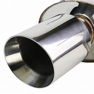 2011-14 Ford Mustang 3.7 V6 Dual Stainless Steel Catback Exhaust - Rolled Tip