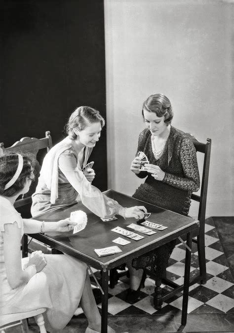Check spelling or type a new query. a group of three women play cards at a card table | 1931 | #vintage #1930s #fashion | Parlor ...