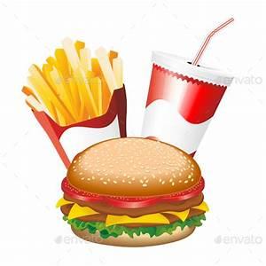 Fast Food Hamburger Fries and Drink Menu by Bluedarkat ...