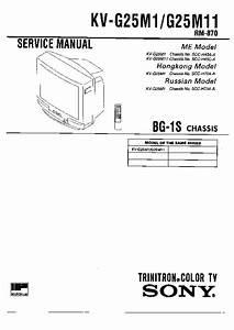 Sony Kv-g25m1 Service Manual