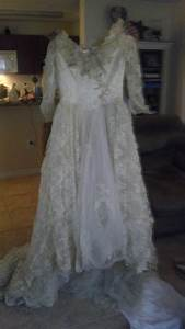 something old found my grandmothers wedding gown With grandma wedding dress