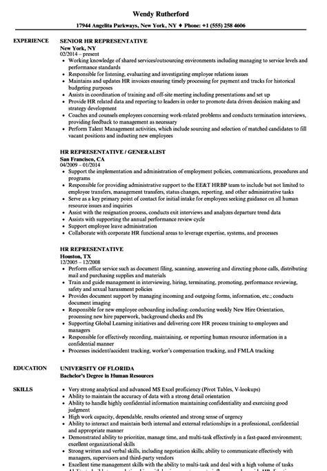 hr representative resume samples velvet jobs