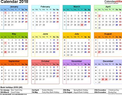 excel 2018 yearly calendar 2018 calendar excel 2018 calendar printable