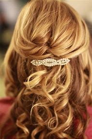 Wedding Hairstyles Half-Up Medium Length Hair