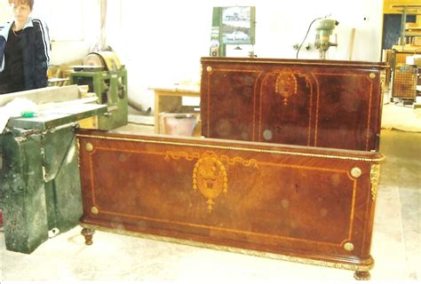 Antique French Louis Xvi Queen Size Bedroom Set, Marquetry