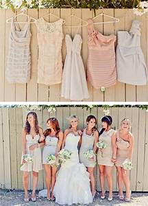 hunted bridesmaid dress nude neutral dresses With nude wedding dress