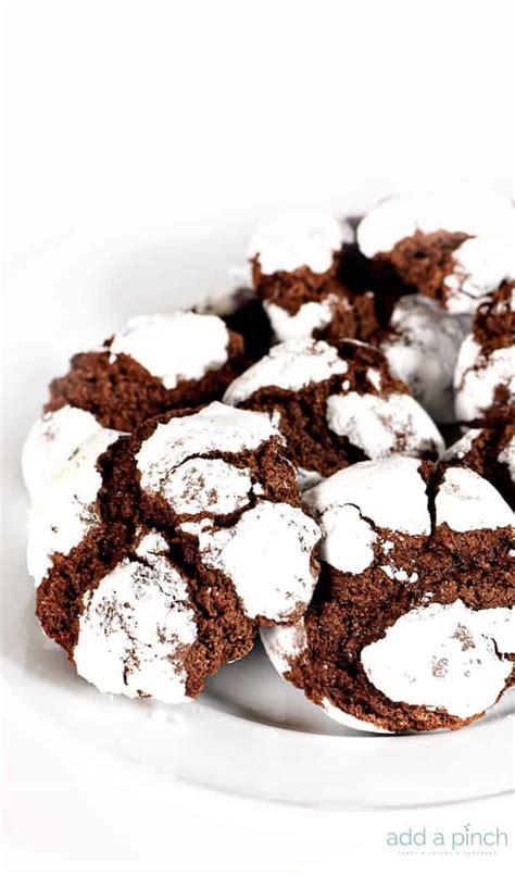chocolate crinkle cookies recipe add  pinch