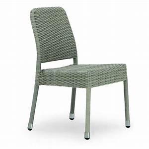 Chaise En Résine Tressée : chaise de jardin taupe en r sine tress e brin d 39 ouest ~ Dallasstarsshop.com Idées de Décoration