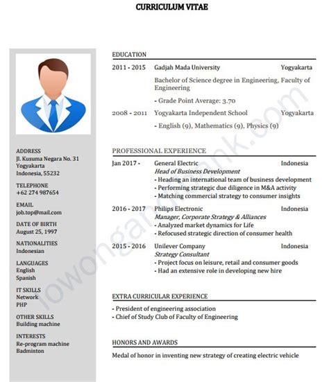 Contoh Download Contoh Cv Lamaran Kerja Doc Terbaru