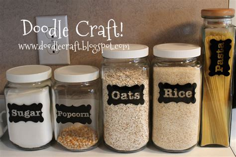Canister Labels by Doodlecraft Vinyl Canister Labels