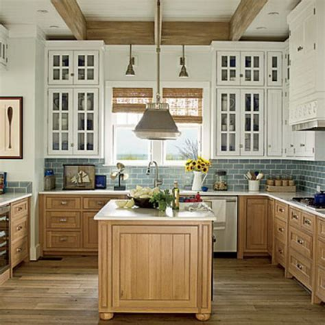 beach house kitchen cabinets stylish two tone kitchen cabinets for your inspiration