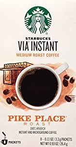 This is starbucks' signature brew, and their medium roast. Amazon.com : Starbucks VIA Instant Coffee, Pike Place Roast, 96 Count : Grocery & Gourmet Food