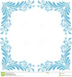 Blue Square Border Clip Art