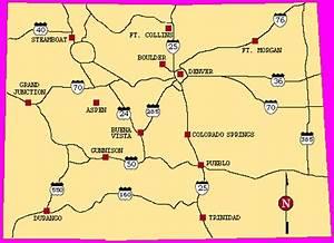 Colorado Map of Destinations and Highways | Colorado Vacation
