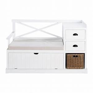 banc de rangement en bois ou teck maisons du monde With meuble d entree maison du monde 8 banc avec coffre de rangement en bois de sapin et coton l