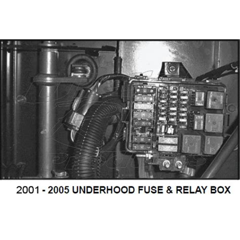 79 Chevy Fuse Box Covef by 12162365 01 05 W Series P Series Fuse Relay Box Cover