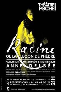 Theatre Poche Montparnasse : racine ou la le on de ph dre th tre de poche montparnasse ~ Nature-et-papiers.com Idées de Décoration